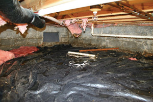 Crawl Space Repair Before in Dallas