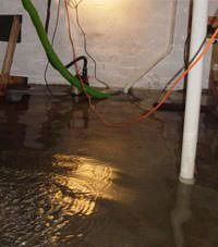 Several feet of floodwaters in a Frisco basement